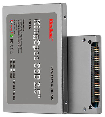 """128GB KingSpec 2.5"""" PATA/IDE SSD Solid State Disk MLC Flash SM2236 Controller"""