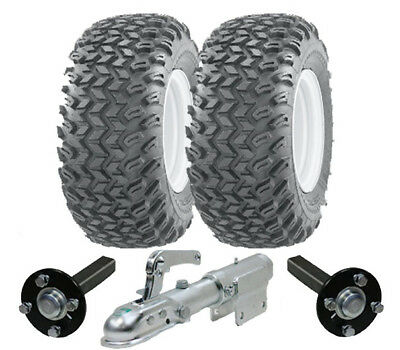ATV trailer kit - Quad trailer - wheels hub / stub swivel hitch heavy duty 900kg