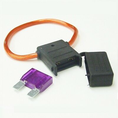 Automotive Maxi Blade Fuse & Holder - 20A-70A Ratings - Heavy Duty 12v 24v