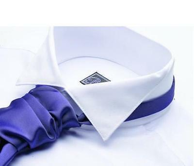 Mens White Formal St Andrews Victorian Wing Collar Shirt And Ruche Tie Set New