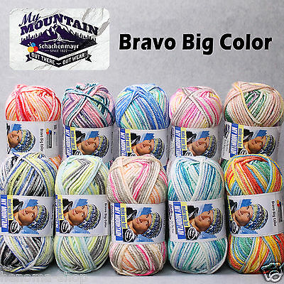 200g (2.49€/100g) Schachenmayr BRAVO BIG COLOR My Mountain Mützen- u. Schalwolle