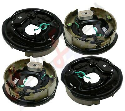 """4pc Electric Trailer Brake 10"""" x 2.25"""" Assembly Right & Left SIde 3500 lb axles"""