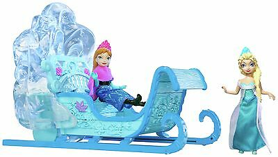 Disney Frozen Small Doll Sleigh Plus Anna and Elsa Dolls -From Argos on ebay