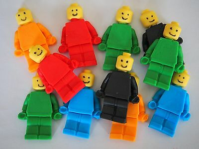 12 x Edible Lego Movie Men CUPCAKE TOPPERS Birthday Cake Decorations KIDS PARTY