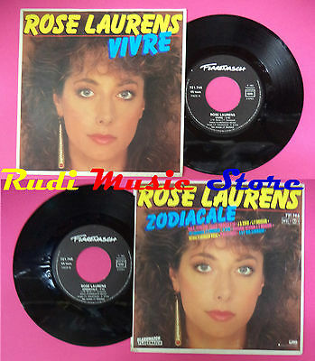 LP 45 7'' ROSE LAURENS Vivre Zodiacale 1983 france FLARENASCH no cd mc dvd
