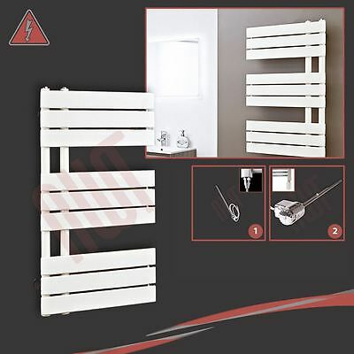 "500mm(w) x 800mm(h) ""Apollo"" Electric Latte Designer Towel Rail, Radiator - 150W"