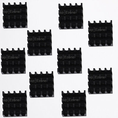 10PCS Heat Sink Black 14x14x7mm IC Heat Sink Aluminum for VGA Card