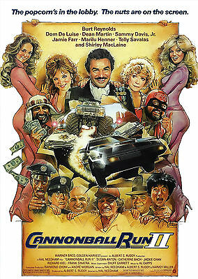 Cannonball Run 2 (1984) - A1/A2 POSTER **BUY ANY 2 AND GET 1 FREE OFFER**