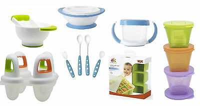 Nuk Annabel Karmel (Cube Tray/Ice Lolly/Masher & Bowl/Snack Pot/Cutlery)