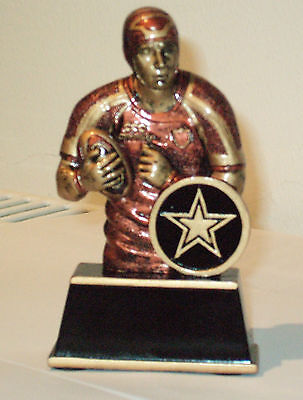 Male Rugby Player Resin Trophy Brand New 11Cm