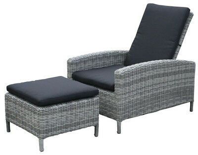 kmh polyrattan lounger liege sonnenliege gartenliege. Black Bedroom Furniture Sets. Home Design Ideas