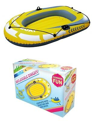 Inflatable Dinghy Explorer 2 Person Boat Set Dinghy Summer Fun Beach River- 6ft