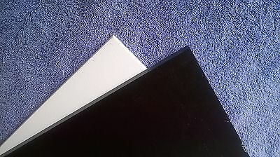 """1/2"""" Thick Black Starboard 12"""" x 27"""" - HDPE Plastic - Marine use"""