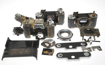 Voigtlander lot of Ultramatic cameras disassembled and not complete, AS IS