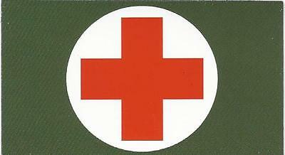 "Vinyl Ammo Can Magnet label ""Medical Supplies"""