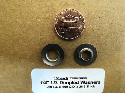 Tinnerman Dimpled #8 Washers Stainless Aircraft Race Sprint (100)