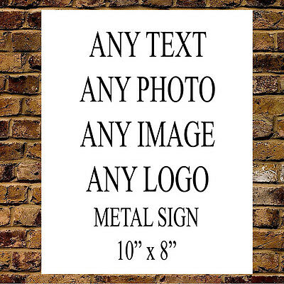 Personalised Custom Your Text Metal Sign House Office Plaque Large 2 Sizes