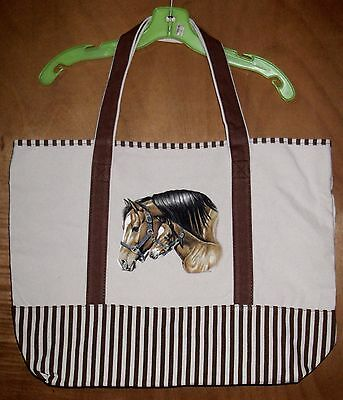MARE & FOAL - 100% Cotton Canvas, heavy duty, X-Large TOTE BAG