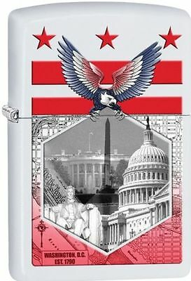 Zippo Windproof White Matte Lighter Washington D.C., 29084, New In Box