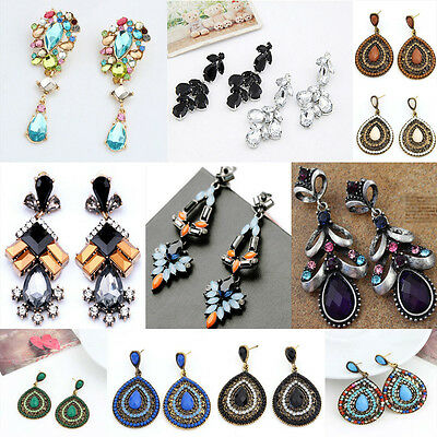 Fashion Women's Crystal Rhinestone Ear Stud Dangle Earrings Charming Jewelry New