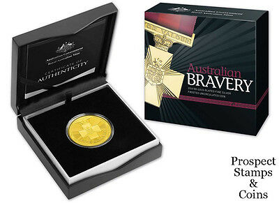 2015 Australian Bravery Five Dollar Gold Plated Silver Uncirculated Coin