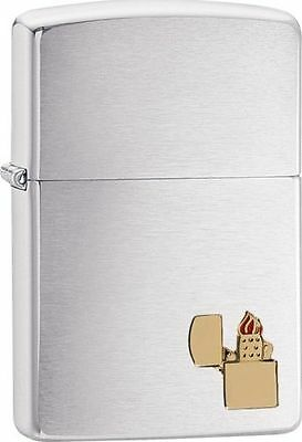 Zippo Windproof Lighter With Zippo Lighter Emblem, 29102, New In Box