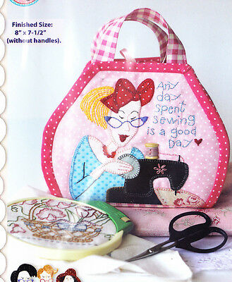PATTERN - Itty Bitty Bag - stitchery & applique sewing bag PATTERN - Red Brolly
