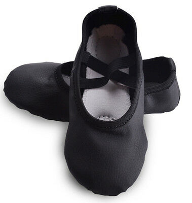 Black Toddler/Girl/Lady's PU Split Sole Ballet Dance Shoes Fitness Shoes