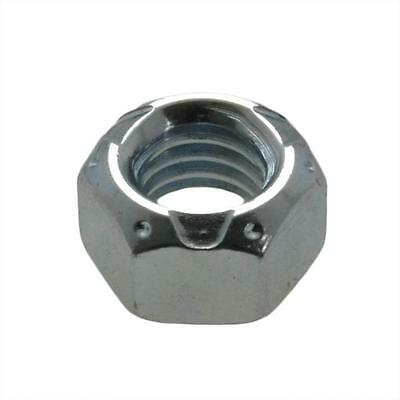 "Qty 10 Hex Cone Lock Nut 1/4"" UNF Zinc Plated Steel Imperial Grade C ZP"