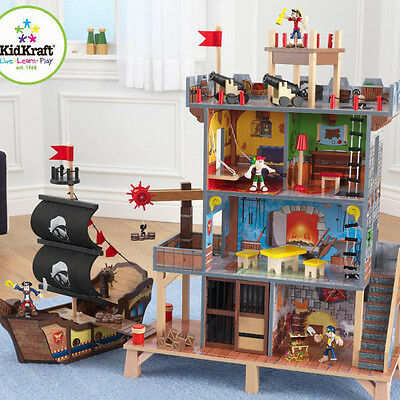 Pirate's Cove Play Set includes Pirate Ship with 4 Pirates