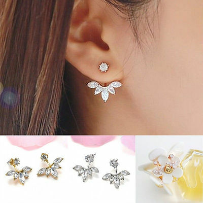 1Pair Women Fashion Jewelry Lady Elegant Crystal Rhinestone Ear Stud Earrings
