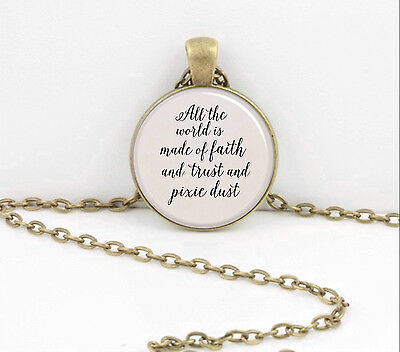 Peter Pan Faith Trust Pixie Dust Gift Pendant Necklace or Key Ring
