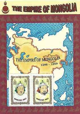 Timbres Personnages Mongolie BF238 ** année 1997 lot 11535