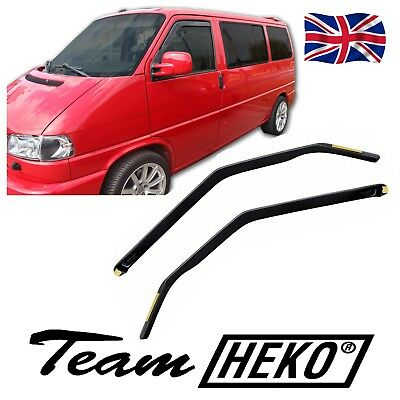 VW T4 CARAWELLE TRANSPORTER 1990-2003 WIND DEFLECTORS 2pc HEKO RAIN GUARDS