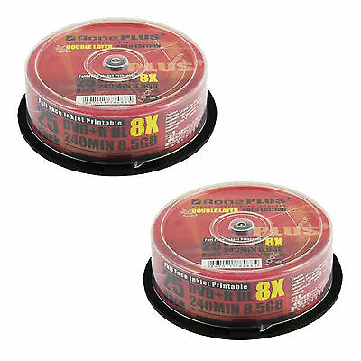 50 AONE Dual Layer Inkjet Printable 8.5GB(8x) Gold Edition DVD+R DL