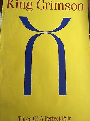 King Crimson Three Of A Perfect Pair Rare Promo Only Poster 1984