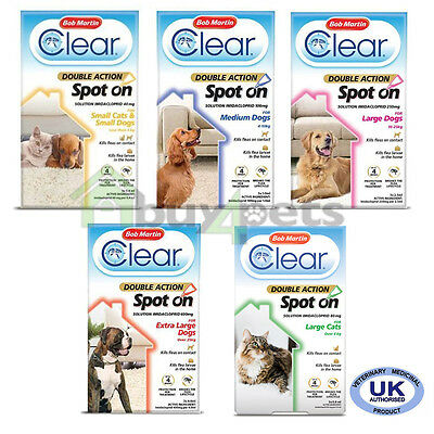 Bob Martin Double Action Spot On Flea Treatment Cats Dogs Flea Protection Killer