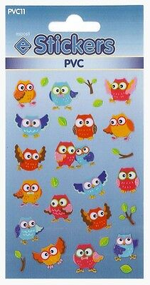 Owl Stickers Sticker Sheets Assorted Designs Sticky Label