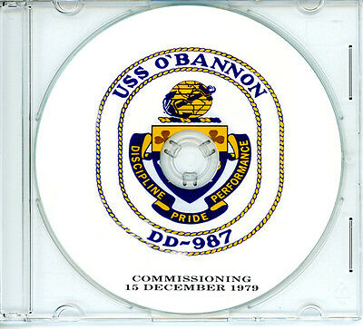 USS O'Bannon DD 987 Commissioning Program 1979 United States Navy Plank Owners