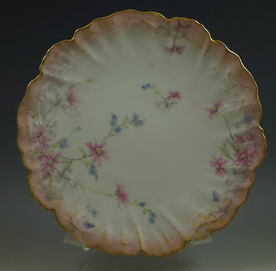 Antique Lanternier Limoges, France Hand Painted, Embossed Plate