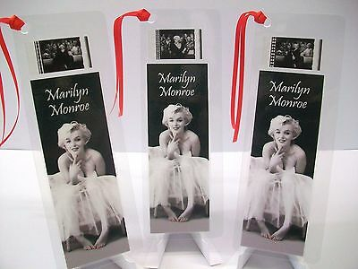 MARILYN MONROE Lot Set of 3 Movie Film Cell Bookmarks Cinema Collectibles Gift