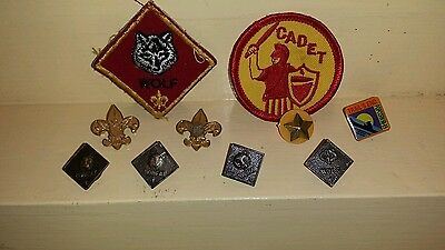 Vintage lot Boy Scouts of America patchs and pins collectable cub scout webelos