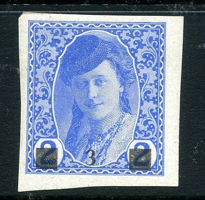 BOSNIA HERZEGOVINA;  1918 Newspaper issue Imperf surcharged Mint hinged 3h