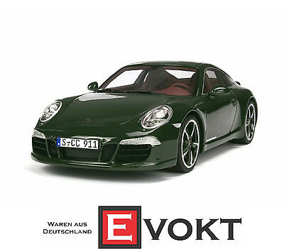 GT Spirit Porsche 911 991 Carrera S Club Coupe 2013 Green Model Car 1:18 Genuine