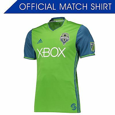 adidas Mens Gents Football Soccer Seattle Sounders Authentic Home Shirt 2016