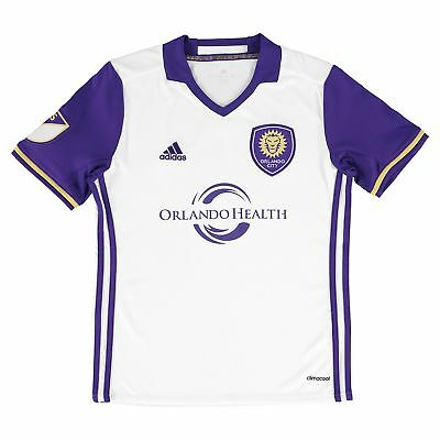 adidas Childrens Kids Football Soccer Orlando City SC Away Shirt 2016 Jersey