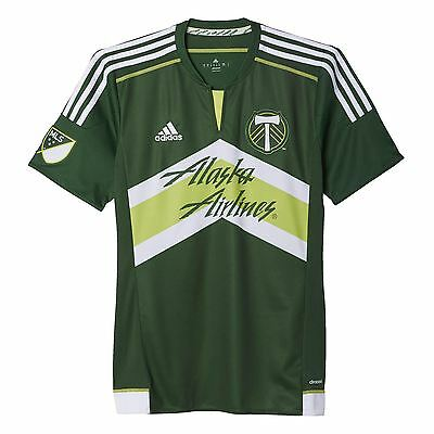 adidas Childrens Kids Football Soccer Portland Timbers Home Shirt 2015/2016