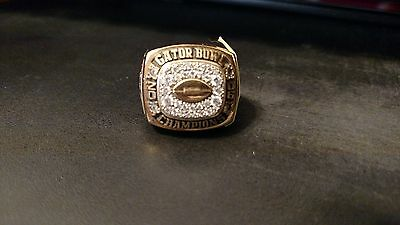 2006 Gator Bowl Virginia Tech Hokies Ring Secondary Starter - Jr & Sr Yrs - Dbu