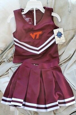 Virginia Tech Hokies Toddler Cheerleader Dress 2T 3T 4T NWT Youth NEW Jersey