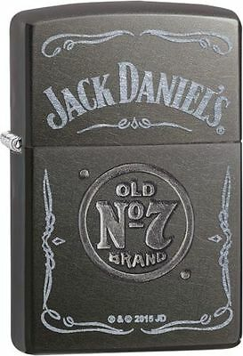 Zippo Gray Dusk Lighter With Jack Daniels Logo and Old No. 7 Stamped, 29150, NIB